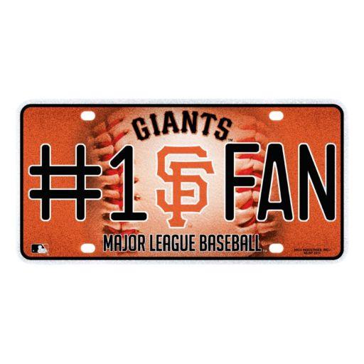 San Francisco Giants #1 Fan Metal License Plate