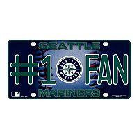 Seattle Mariners #1 Fan Metal License Plate