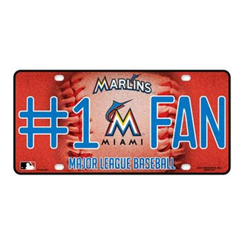 Miami Marlins #1 Fan Metal License Plate