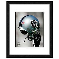 Oakland Raiders Team Helmet Framed 11
