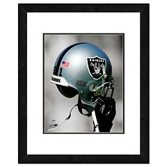 Oakland Raiders Team Helmet Framed 11' x 14' Photo