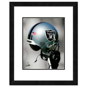 "Oakland Raiders Team Helmet Framed 11"" x 14"" Photo"