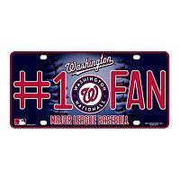 Washington Nationals #1 Fan Metal License Plate