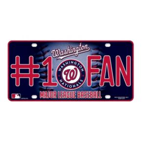 Washington Nationals #1 Fan Metal License Plate