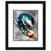 """Philadelphia Eagles Team Helmet Framed 11"""" x 14"""" Photo"""