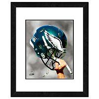 Philadelphia Eagles Team Helmet Framed 11