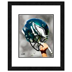 Philadelphia Eagles Team Helmet Framed 11' x 14' Photo