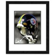 """Pittsburgh Steelers Team Helmet Framed 11"""" x 14"""" Photo"""