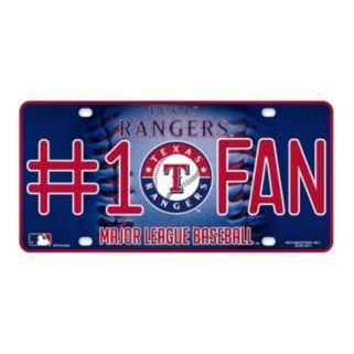 Texas Rangers #1 Fan Metal License Plate