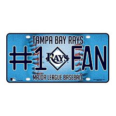 Tampa Bay Rays #1 Fan Metal License Plate