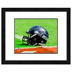 Seattle Seahawks Team Helmet Framed 11' x 14' Photo