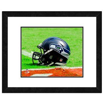 Seattle Seahawks Team Helmet Framed 11