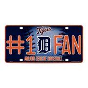 Detroit Tigers #1 Fan Metal License Plate
