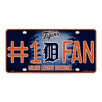 Detroit Tigers #1 Fan Metal License Plate
