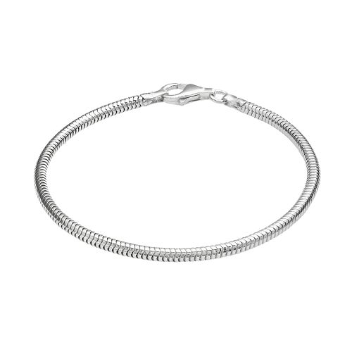 Individuality Beads Sterling Silver Snake Chain Bracelet