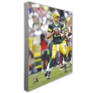 """Aaron Rodgers Green Bay Packers 16"""" x 20"""" Canvas Photo"""
