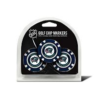 Team Golf Columbus Blue Jackets 3-pack Poker Chip Ball Markers