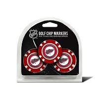 Team Golf Detroit Red Wings 3-pack Poker Chip Ball Markers