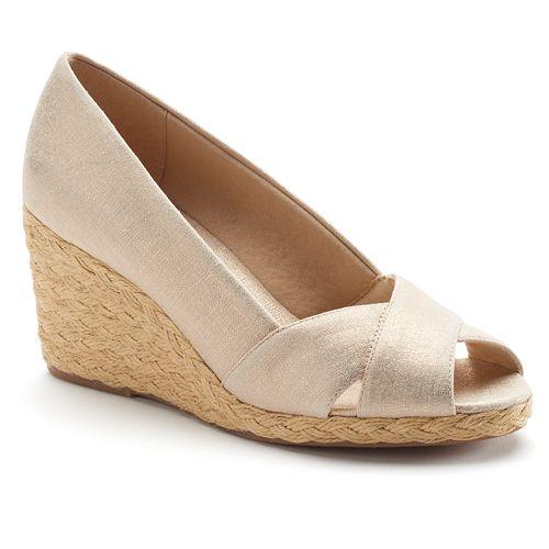 20d0cefbbe7 Chaps Dakoda Women's Peep-Toe Espadrille Wedge Sandals
