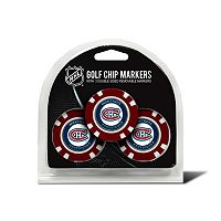 Team Golf Montreal Canadiens 3-pack Poker Chip Ball Markers