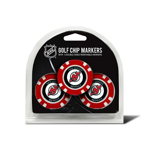 Team Golf New Jersey Devils 3-pack Poker Chip Ball Markers