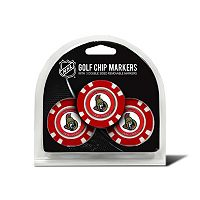 Team Golf Ottawa Senators 3-pack Poker Chip Ball Markers