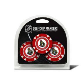 Team Golf Ottawa Senators 3-pack Poker Chip Ball Markers
