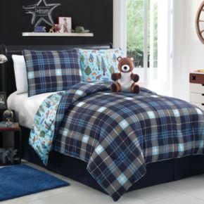 VCNY Brady the Bear Reversible Comforter Set