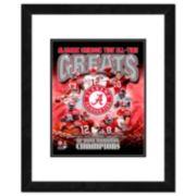 "Alabama Crimson Tide All-Time Greats Framed 11"" x 14"" Photo"