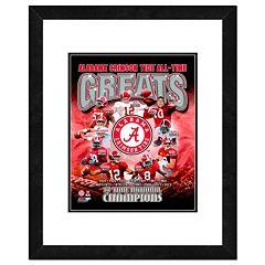 Alabama Crimson Tide All-Time Greats Framed 11' x 14' Photo