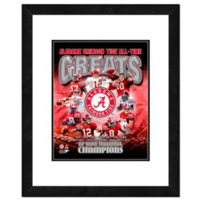 "Alabama Crimson Tide All-Time Greats Framed 11"" x 14"" Photo"