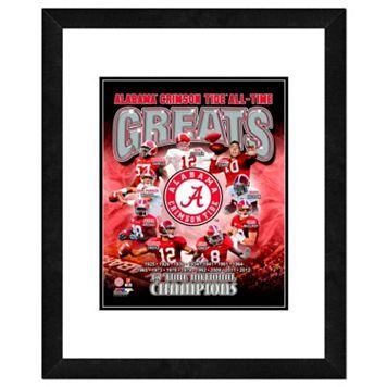 Alabama Crimson Tide All-Time Greats Framed 11
