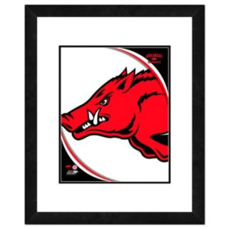 "Arkansas Razorbacks Team Logo Framed 11"" x 14"" Photo"
