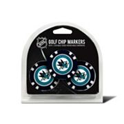 Team Golf San Jose Sharks 3-pack Poker Chip Ball Markers