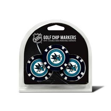 Team Golf San Jose Sharks 3-pack Poker Chip Ball Markers