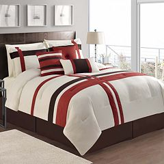 VCNY Berkley Red 7 pc Comforter Set