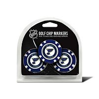 Team Golf St. Louis Blues 3-pack Poker Chip Ball Markers