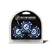 Team Golf Tampa Bay Lightning 3-pack Poker Chip Ball Markers