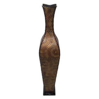 Circle Dot Metal Vase