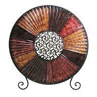 Textured Medallion Metal Decor