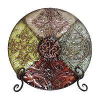 Floral Medallion Metal Decor