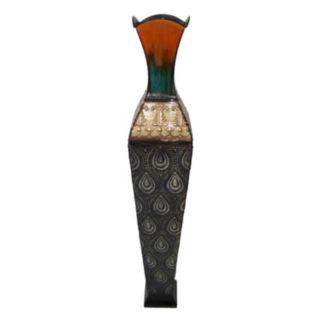 Teardrop Metal Vase