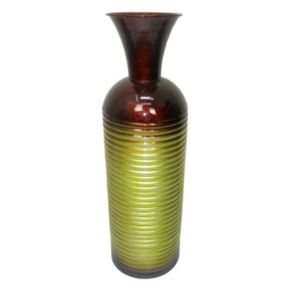 Striped Metal Vase