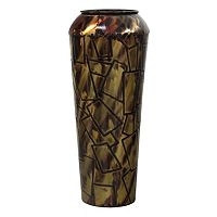Geometric Rectangles Small Metal Vase