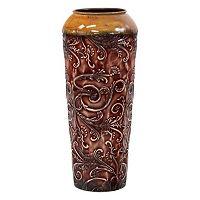 Scroll Small Metal Vase