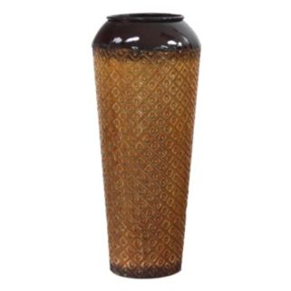Geometric Dotted Small Metal Vase