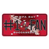 Tampa Bay Buccaneers #1 Fan Metal License Plate