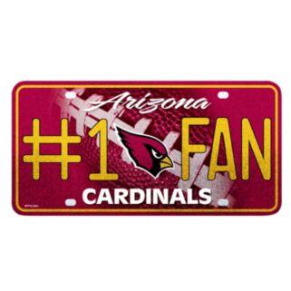 Arizona Cardinals #1 Fan Metal License Plate