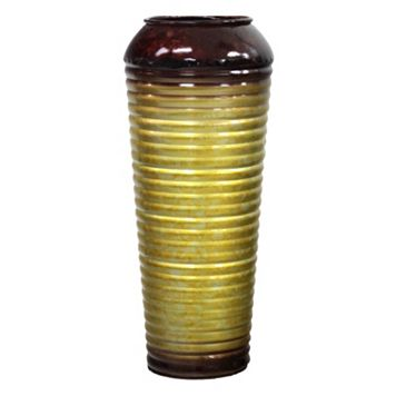 Striped Small Metal Vase