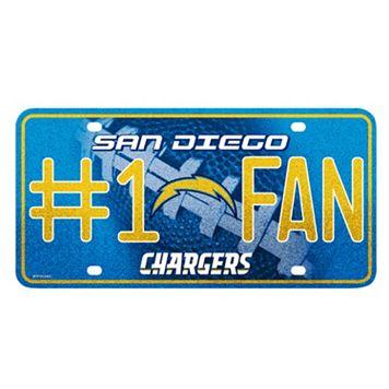 San DiegoChargers #1 Fan Metal License Plate